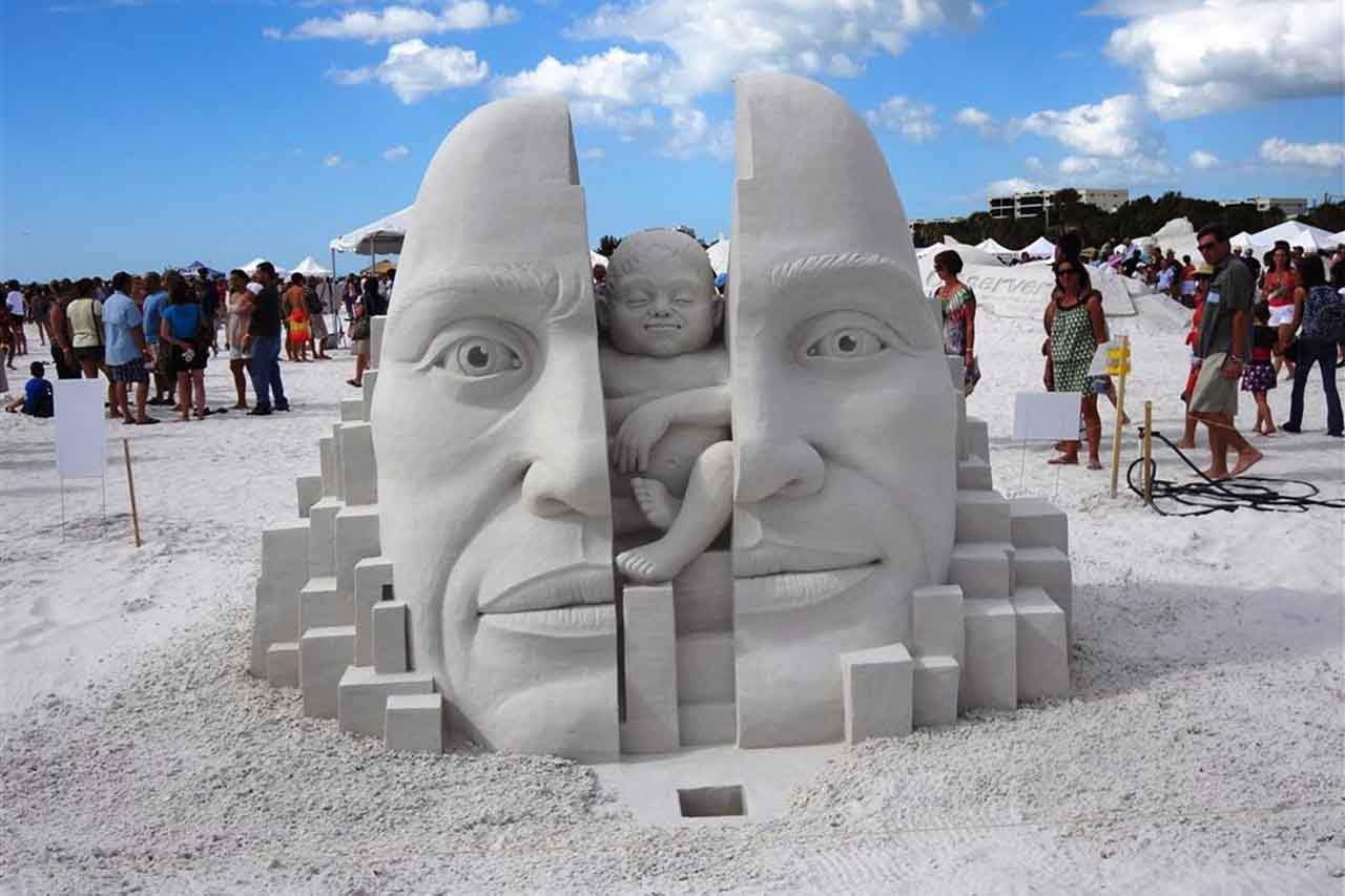 15 Epic Sculptures You Didn't Know You Could Build With Sand