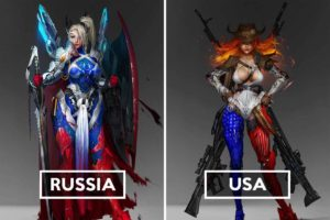 Russian Artist Personifies Countries As Post-Apocalyptic Heroes